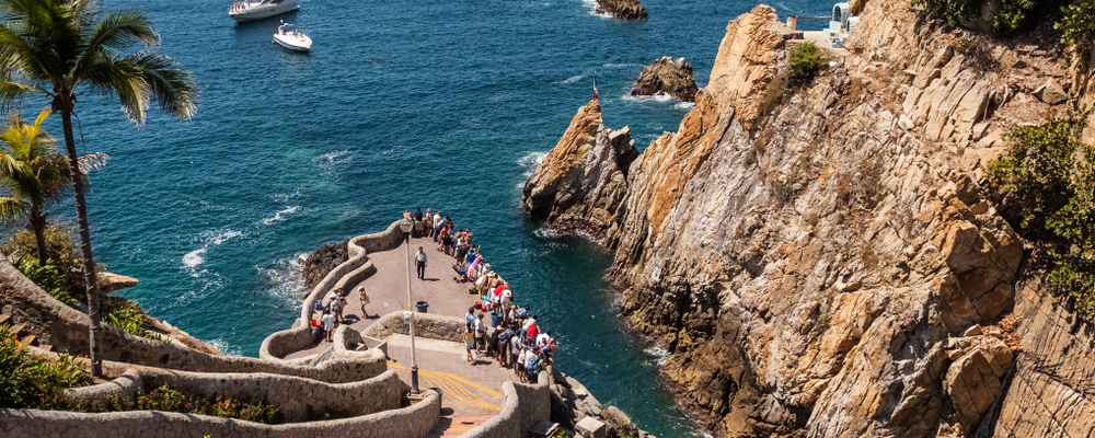Site of La Quebrada cliff divers in Acapulco