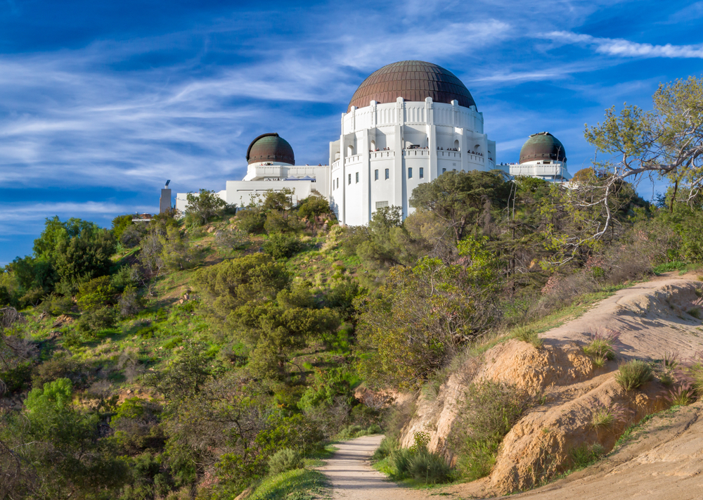 Historic Griffith Observatory in the Hollywood Hills of Los Angeles, California.