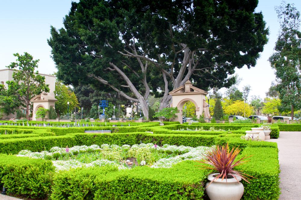 Alcazar Gardens in Balboa Park, San Diego, California