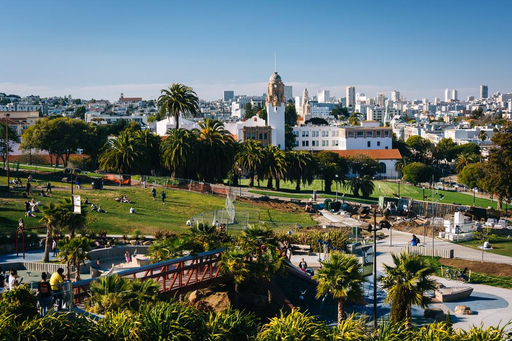 Mission Delores Park, in San Francisco, California.