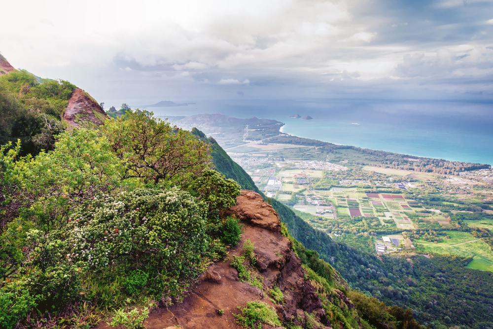 Kuliouou Ridge Trail, a popular hiking destination, on the south side of Oahu just outside Honolulu, Hawaii