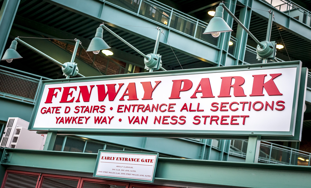 The Fenway Park Stadium Sign in Boston, Massachusetts,USA.