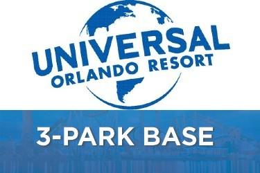 Universal Studios Florida 3-Park Base Tickets