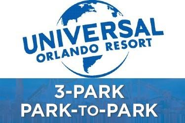 Universal Studios Florida 3-park Park-to-Park Tickets